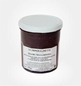 confiture quatre fruits rouges La Trinquelinette